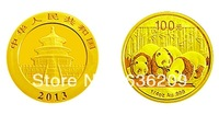 The people's Bank of China issued the 2013 panda 1/4 ounces of gold with box 999 gold Chinese Panda coins Commemorative Coins