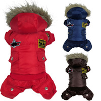 High quality Dog Clothes Winter Clothing Jump suit Warm Track suit For USA AIR FORCE Design High Grade(PTS020)