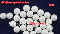Hot Sale!(50pcs/Lot)6cm Natural White Styrofoam  Balls For  DIY Flower Ball Craft  Handmade Painted Ball   *FREE SHIPPING*