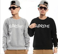 2013 Autumn And Winter Men`s Fashion Designer Brand Supreme Long-Sleeve Cotton Crew Neck Sweatshirt Classic Hoodies