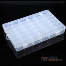 #F9s 36 Grid Plastic Adjustable Jewelry Organizer Box Storage Container Case