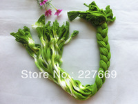 Free Shipping (50pcs/Lot)Making wire nylon stocking flower accessory for diy Double color stocking supplies silk flower wire