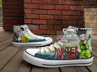 High Fashion Anime Shoes Hunter X Hunter High Top Canvas Sneaker for Men/Women