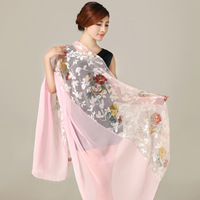2015 Women Pink Long Silk Scarf Shawl 180*80cm Fashion Brand Silk Jacquard Lengthen Female Silk Scarves For Spring Autumn