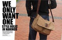 2014 summer new retro animal man canvas shoulder bag package leather with canvas messager  cross body bag  bolsas supernova sale
