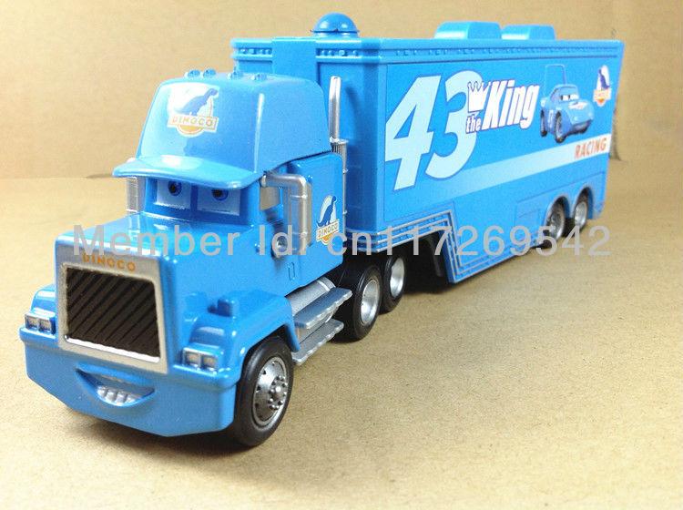 Free Shipping Pixar cars 2 Toys Diecast #43 THE KING Hauler Mack cars plastic truck(China (Mainland))