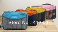 Free shipping 150pcs/lot Travel Check SIZE L Cosmetic Bag NEW Organizer Traveling Bag, Mesh pouch , fstorage bag travelus