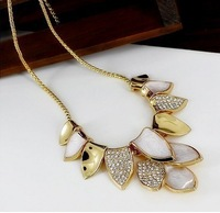 new unique fashion vintage design Trend 18K gold statement necklace for women jewerly wholesale price