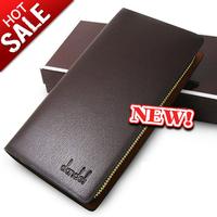 Cowhide male single zipper wallet fashion commercial genuine leather long design single male clutch  50%off