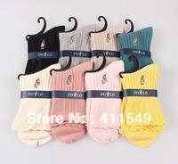 cotton classic polo  brand man socks , women sock , cotton sock (16pcs=8 pairs) /lot, mix color Rainbow socks  fit 39-44 size