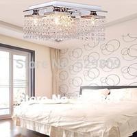 Free shipping 4-lights crystal lamps Linear Design 110-240V bedroom chandelier crystal lights