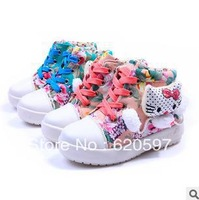 Free shipping 2013 the autumn the new girl canvas shoes lovely KT cat single shoes 26-33 yards