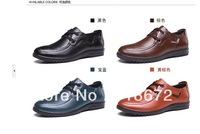 2013 new, men, first layer of leather, flat, apartment, Casual shoes, wedding, fashion, dress shoes, free shipping