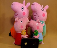 New Arrival Hard wash peppa pig & george pig 19cm plush Mom & Daddy 30cm cute kids toddler toys peppa pig plush family