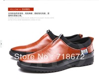 2013 new, men, first layer of leather, apartment, flat, commercial business, Casual shoes, wedding dress shoes, free shipping