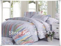Yamanju textile active printing twill weaving process 4 pcs 100% adult bedding  set
