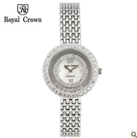 Royal Crown Watches Luxury 2014 Original Brand Diamond Waterproof Ladies Wristwatch Band Smartwatch Quartz Womens Watches