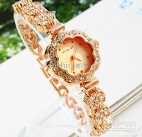 2013 Hot Fashion Beautiful Women Vintage Wrist Rose Shape Pointer Display Wrist Watch