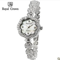 Royal Crown Luxury Brand Watches For Women Nurses Designer Crystal Rhinestone Quartz Watch