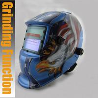 Rechargeable battery outside control solar auto darkening/shading grinding/polish welding helmet/welder goggles/mask/cap