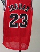 Wholesale High quality Chicago #23 Jordan basketball jersey Mesh and Embroidered Jersey Free shipping Red Color