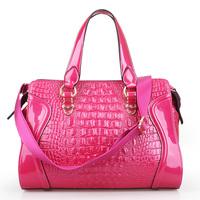 New arrival 2013 Women's cowhide genuine leather Handbag Fashion Crocodile pattern shoulder women messenger bag genuine leather