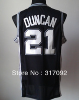free shipping High quality Wholesales/Retail  21# DUNCAN basketball jersey New Material Mesh and Embroidered 3 colors