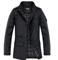 Hot new Men's Jacket Cloth Coat Slim Clothes Winter Warm Overcoat Casual Outwear#JA040