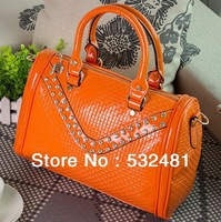 2013 sumer-autumn women bling patent leather girls handbags fashion ladies handbag  hot sale and free shipping diamond bag
