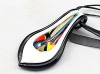 Fee shipping 2013 new style  inner flower fashion women glass pendants