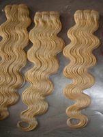 hot sales grade 5a virgin human hair body wave platinum blonde weft body can be dyed dhl fast free shipping