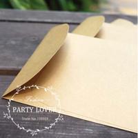 Free shipping  kraft wedding invitation envelopes envelope paper gift envelope for cards 100pcs/lot