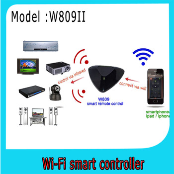 Real smart life,wifi intelligent remote control via smart phone only the latest product