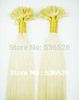 Human Hair 55cm 60cm pre bonded Keratin Nail tip remy human hair extension 100gram #60 Platinum Blonde color 100pieces/Lot