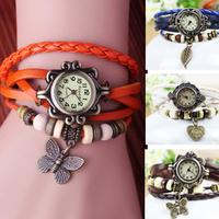 hot sale! new fashion ladies genuine leather watch ,women dress  watches  bracelet  wristwatches W030