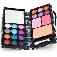 Eyeshadow Palette Professional Eyes Charms 1pcs 18 color Eyeshadow+2 color Blush+1 Foundation Makeup Palatte Make Up Kit 8814E A