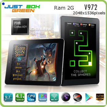 Discount Price!!! Onda V972 A31 Quad Core 1.5GHz 9.7Inch Android 4.2 Tablets Retina Screen 2GB 16GB Dual Camera External 3G