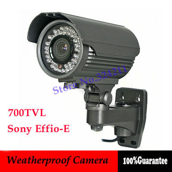 700TVL Sony Effio-E 42pcs IR Leds Day Night Outdoor CCTV Camera 4-9mm Zoom OSD Menu