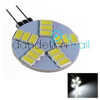 NEW 10pcs/lot wholesale Free Shipping G4 5W 480-Lumen 6500K 15SMD 5630 LED RD AC Light Pure White Bulb Lamp AC 12V