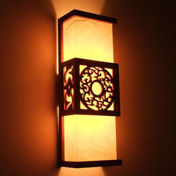 FREE SHIPPING E27 2013 Antique faux chinese style wall lamp wooden lamps living room lights Chinese retro pastoral wooden lamp