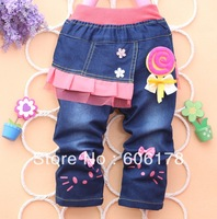 New cartoon Hello Kitty girl jeans Trousers children jeans children's pants wholesale girl pants free shipping