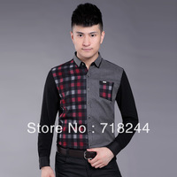2013 new autumn fashion city awarded long-sleeved shirt Men's casual jacket men's men's lapel shirt