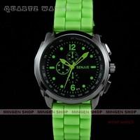 Senjue New Multicolor Men Lady Silicone Band Sport Quartz Watch