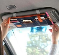 Multifunctional Sun Visor Car Pouch with Oxford Fabric for Mobilephone/Bills/Cards 140g
