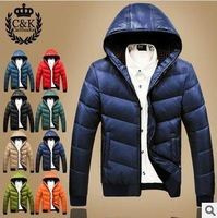 New winter jacket M-XXXXL 2013  Men's down Parkas Winter  thicken Coat Outdoor jacket  European style men's warm winter down coa