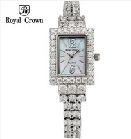 Royal Crown Full Rhinestone Diamond Dress Watch For Women Ladies Bracelet Jewelry Accessories Luxury Self-Wind Gold Watch