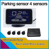 4 sensors parking sensor,buzzer alarm,LCD display,different colors for option,car parking system,
