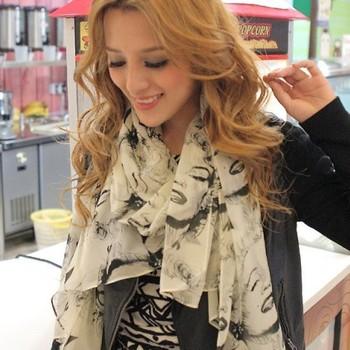 2013 female autumn and winter sedulous vintage all-match women's silk scarf chiffon long silk scarf