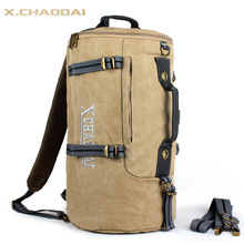 NEW travel bag handbag one shoulder backpack multifunctional canvas sports bag drum bag men travel backpack 921(China (Mainland))
