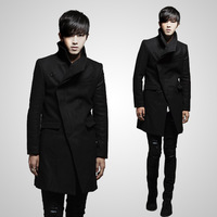 2014 Direct Selling Time-limited Overcoat Menunique French Front Trench British Style Fashion Slim Medium-long Wool Coat Male